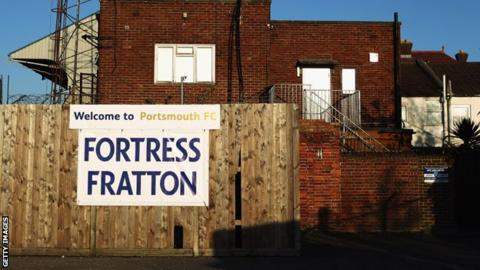 Fratton Park - the home of financially-troubled Portsmouth