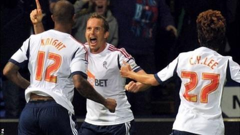 Kevin Davies celebrates his goal