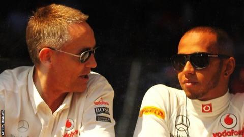 Martin Whitmarsh with Lewis Hamilton