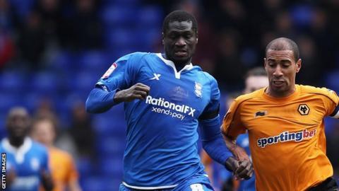 Guirane N'Daw playing for Birmingham