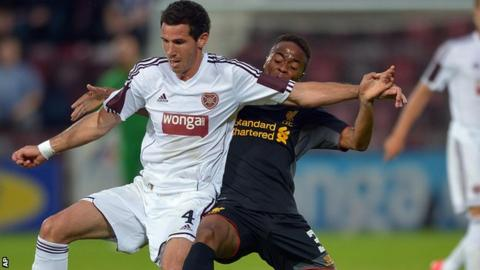 Ryan McGowan was impressive for Hearts against Liverpool