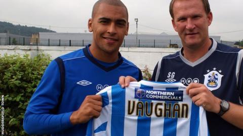 Jamess Vaughan with Simon Grayson