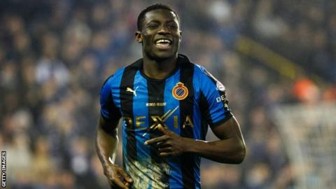 Nigeria's Joseph Akpala playing for Club Brugge