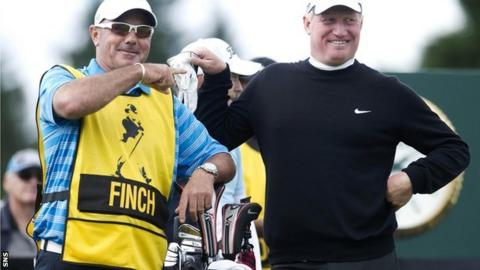 Richard Finch with his caddie