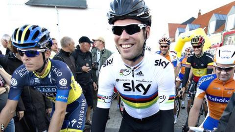 Mark Cavendish on the Tour of Denmark