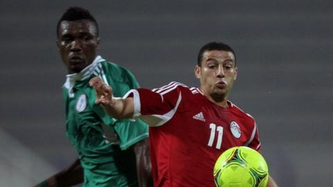 Nigeria were beaten 3-2 by Egypt in April, 2012