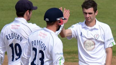 David Wainwright takes a wicket