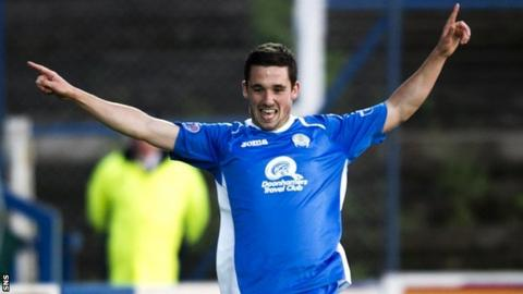 Queen of the South striker Nicky Clark