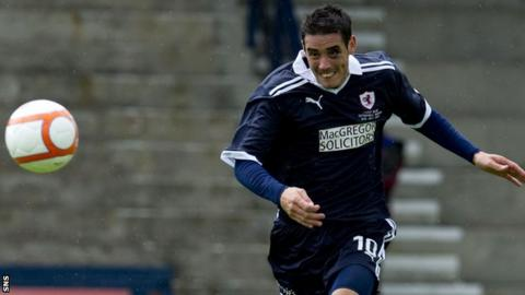 Brian Graham scored twice for Raith Rovers