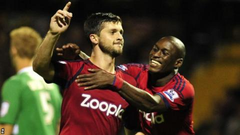 Shane Long (left0 scored twice for west brom at Yeovil