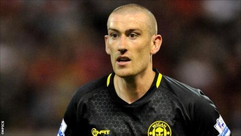 Wigan Athletic midfielder David Jones