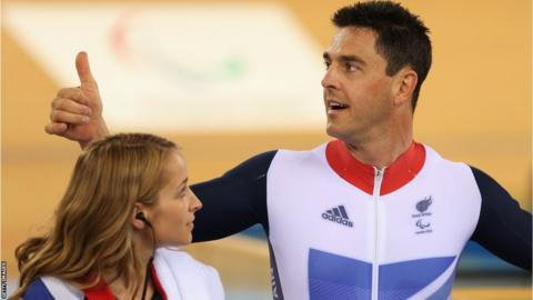 Welsh cyclist Mark Colbourne becomes Great Britain's first medal winner at the 2012 Paralympic Games by winner a silver medal in the C1-2-3 one kilometre sprint