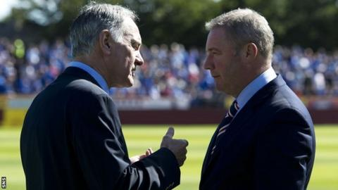 Rangers chief executive Charles Green and manager Ally McCoist