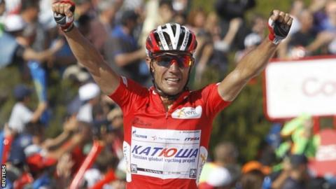Joaquin Rodriguez wins stage 14 of the Vuelta a Espana