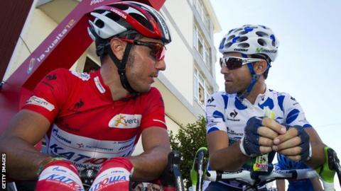 Vuelta a Espana rivals Joaquin Rodriguez (left) and Alejandro Valverde