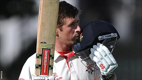 Lancashire opening batsman Paul Horton
