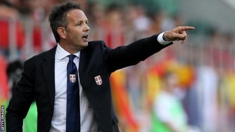 Serbia head coach Sinisa Mihajlovic