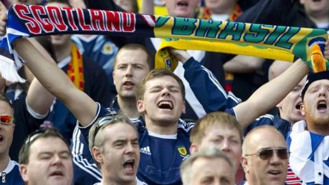 Scotland fans hope to be in Brazil for the finals in 2014