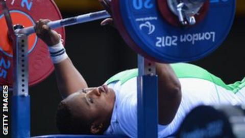 Nigerian powerlifter