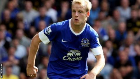 Everton forward Steven Naismith