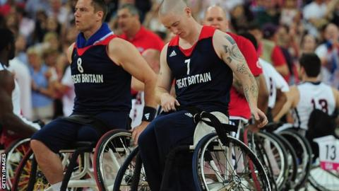 A dejected Terry Bywater after Great Britain's bronze-medal match defeat