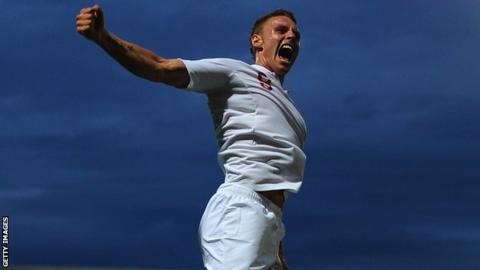 Connor Wickham celebrates scoring for England's Under-21 team