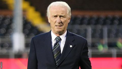 Giovanni Trapattoni after the at Craven Cottage