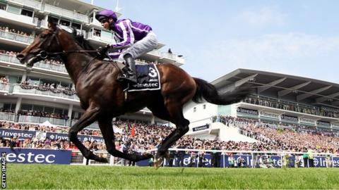 Horse 'Camelot' ridden by jockey Joseph O'Brien