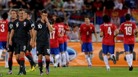 Wales contemplate a heavy defeat in Serbia