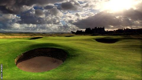 Hoylake golf course in Merseyside