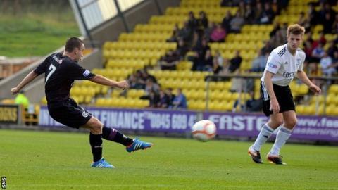 Steven Lawless scores for Partick Thistle against Livingston