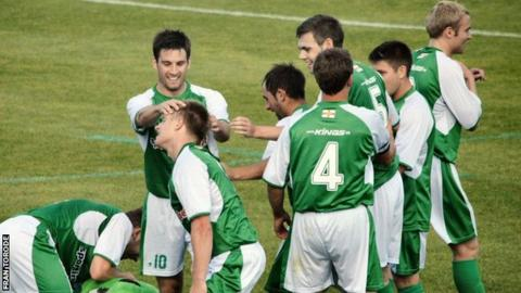 Guernsey FC celebrate Black's second half goal