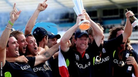 England celebrate World Twenty20 crown