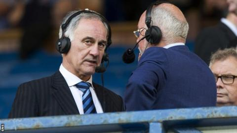 Charles Green talks to BBC Scotland football commentator Chick Young