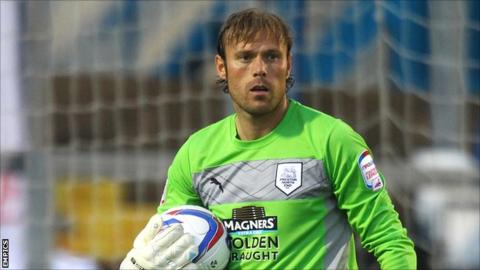 Preston North End goalkeeper Steve Simonsen