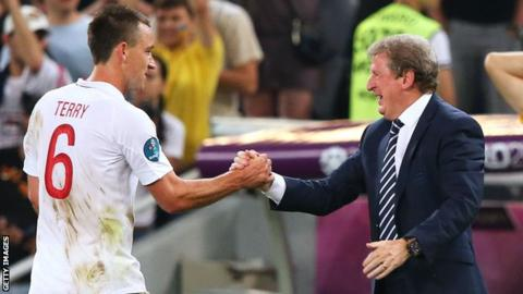 John Terry and Roy Hodgson