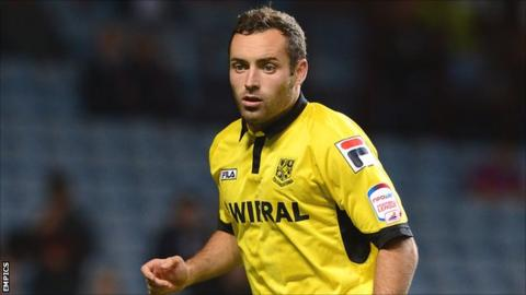 Tranmere Rovers full-back Danny Holmes