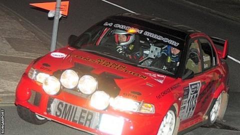 Steve Quine and co-driver Richard Skinner