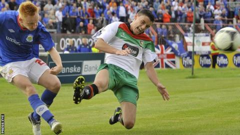 Linfield are scheduled to play Glentoran at the Oval