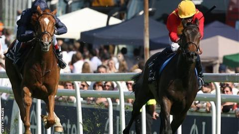 Snow Fairy wins the 2010 Epsom Oaks