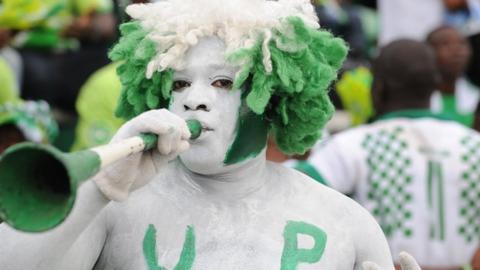 Nigerian football fan