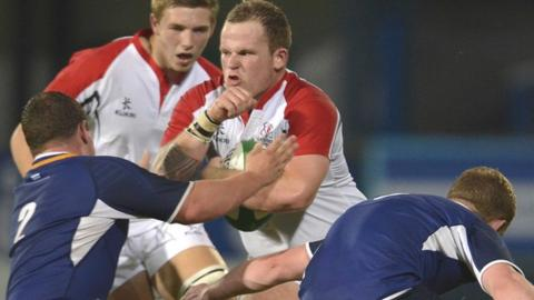 Jake Caulfield in action for Ulster U20s