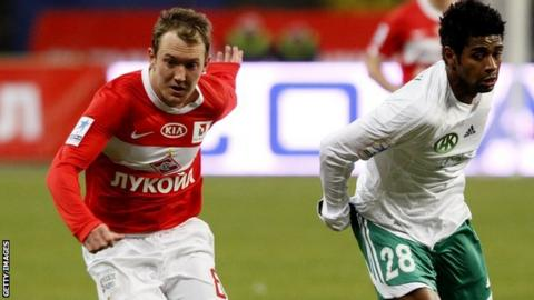 Spartak Moscow winger Aiden McGeady