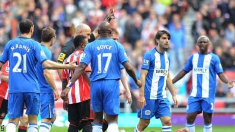 Jordi Gomez is sent off