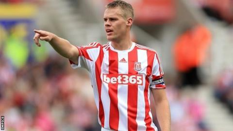 Stoke City's Ryan Shawcross