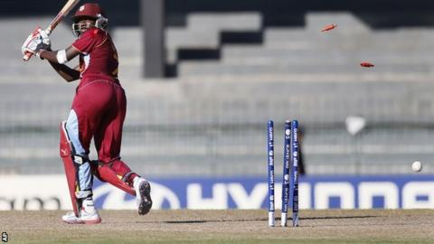 Stafanie Taylor is bowled