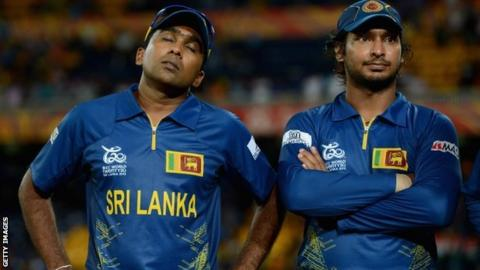 Mahela Jayawardene (left) and Kumar Sangakkara