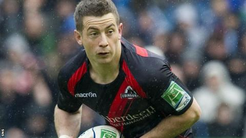 Greig Laidlaw in action for Edinburgh