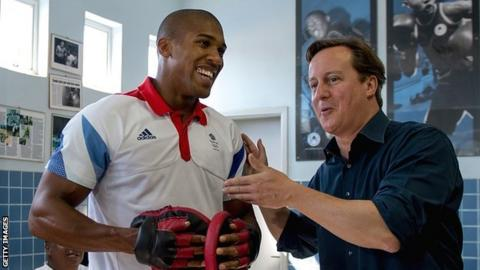 Anthony Joshua and David Cameron
