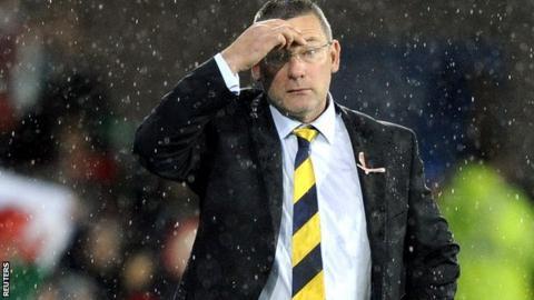 Craig Levein during Wales 2-1 Scotland